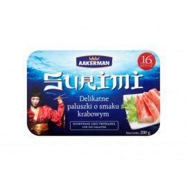 Aakerman Surimi Delikatne paluszki o smaku krabowym 200 g (16 sztuk)