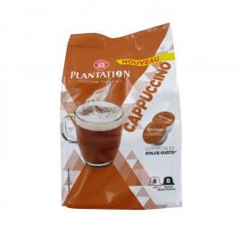 Kawa Cappuccino - 8 kapsułek kawy mielonej palonej i 8 kapsułek MLEKA pełnego w proszku (26% tłuszczu) System NESCAFÉ ® Dolce Gu