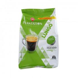 16 kapsułek kawy palonej mielonej Lungo (stopień intensywności 6) do systemu NESCAFÉ® DOLCE GUSTO® *