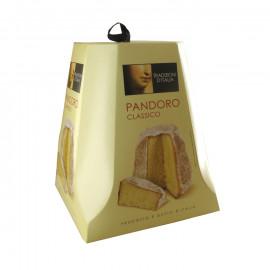 Ciasto pandoro – ciasto włoskie maślane z saszetką cukru do posypania.