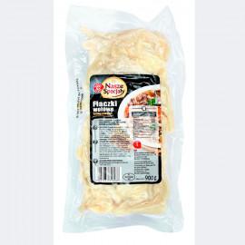 Flaki wołowe – żołądki wołowe krojone, gotowane. Wyrób garmażeryjny
