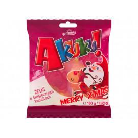 Jutrzenka Akuku! Merry X'mas Żelki o smaku owocowym 100 g