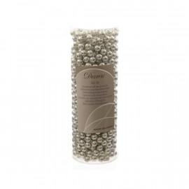 DECORIS Srebrny  łańcuch z koralików 10m,