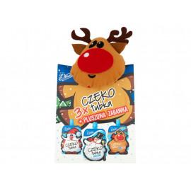 E. Wedel Czekotubka kakowo-orzechowa mleczna karmelowa Zestaw z zabawką 150 g (3 sztuki)