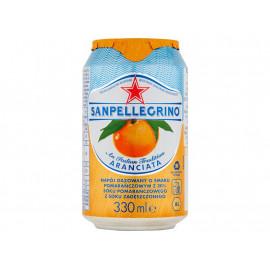 Sanpellegrino Aranciata Napój gazowany o smaku pomarańczowym 330 ml