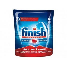 Finish Powerball All in 1 Max Shine&Protect Tabletki do mycia naczyń w zmywarkach 451 g (24 sztuki)