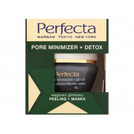 Perfecta Pore minimizer + Detox Węglowy glinkowy peeling + maska 55 g
