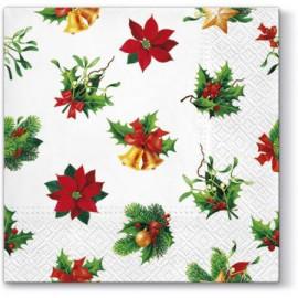TETEaTETE Serwetki świąteczne białe we wzory