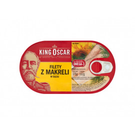 King Oscar Filety z makreli w oleju 170 g