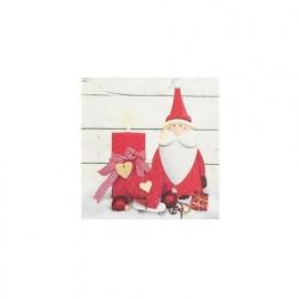 TETEaTETE Serwetki świąteczne Mikołaj i świeczka