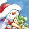 TETEaTETE Serwetki świąteczne Bałwanek