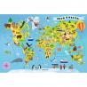 Zabawka Puzzle Mapa Świata 100 elementów  wiek 5+