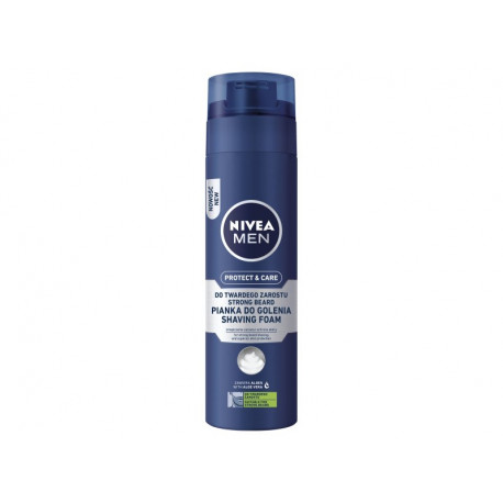 NIVEA MEN Protect & Care Pianka do golenia do twardego zarostu 200 ml