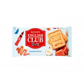 Roshen English Club Kruche ciastka z karmelem i orzechami 112 g