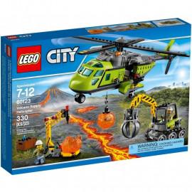 LEGO CITY 60123 Wulkan - Helikopter dostawczy