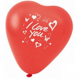 FACKELMANN Balony w kształcie serca z napisem 5 szt.