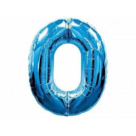 Balon cyfra foliowa 0
