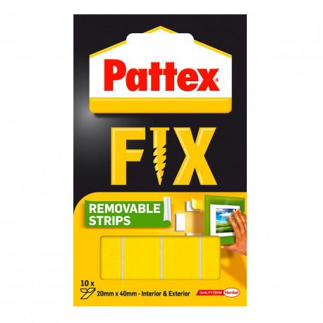 PATEX FIX  Paski montażowe usuwalne 10 sztuk