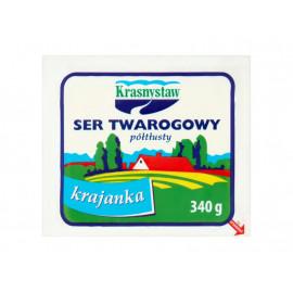 Krasnystaw Ser twarogowy półtłusty krajanka 340 g