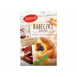 Delecta Babeczki nadziane budyniem smak czekoladowy 315 g