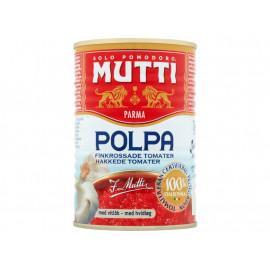 Mutti Pulpa Pomidory drobno krojone bez skórek z czosnkiem 400 g
