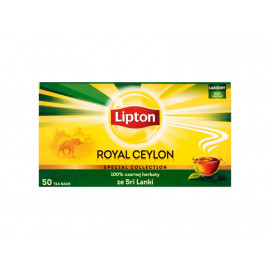 Lipton Royal Ceylon Herbata czarna 100 g (50 torebek)