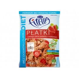 Fitella Diet Płatki z pełnego ziarna pszenicy z truskawkami 225 g
