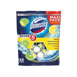 Domestos Power 5 Lime Kostka toaletowa 5 x 55 g