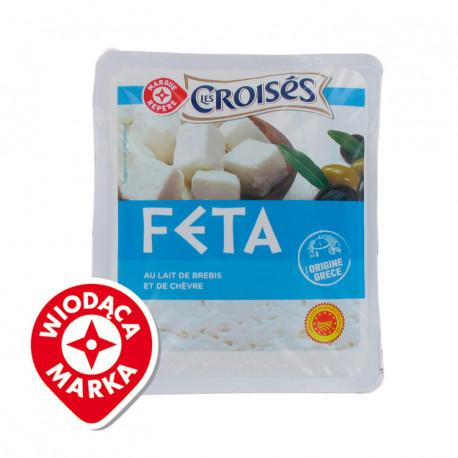 Ser Feta* – Ser z mleka pasteryzowanego, miękki, solankowy. *Chroniona Nazwa Pochodzenia. Pakowano w atmosferze ochronnej.