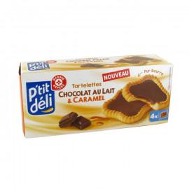 Tarteletki – ciasteczka maślane z nadzieniem z czekolady mlecznej i karmelu