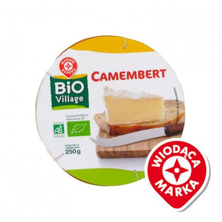 Camembert – ser miękki, podpuszczkowy, dojrzewający, pleśniowy, z mleka pasteryzowanego. Produkt rolnictwa ekologicznego.