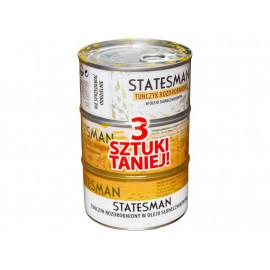 Statesman Tuńczyk rozdrobniony w oleju słonecznikowym 3 x 185 g