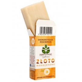 POWRÓT DO NATURY  Roślinne naturalne mydło ze Złotem Monojonowym