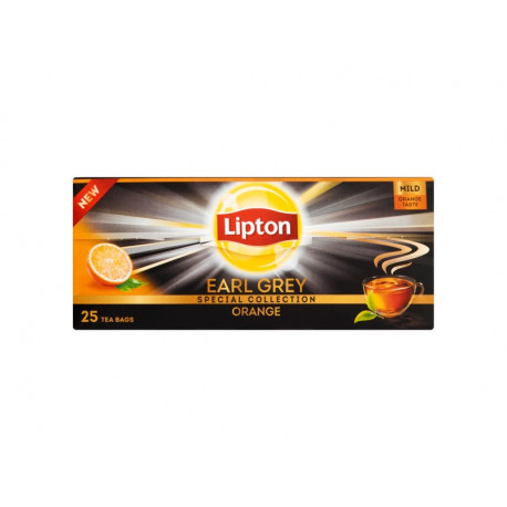 Lipton Earl Grey Orange Herbata czarna 35 g (25 torebek)